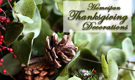 Homespun Thanksgiving Decorations