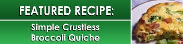 Simple Crustless Brocolli Quiche