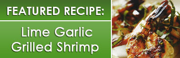 Lime Garlic Grilled Shrimp