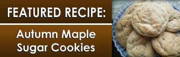 Autumn Maple Sugar Cookies